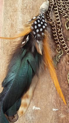 SPRING gift idea Feathers tassel keychain by IFFIcreations on Etsy #handmade #keychain #feathers