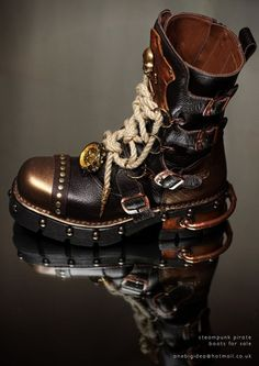 Steampunk skypirate boots