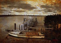 "Digital Art ""Tramonto sul Delta"" Giclée su tela cm.50x70"