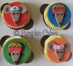 Rastamouse cupcakes...love it!