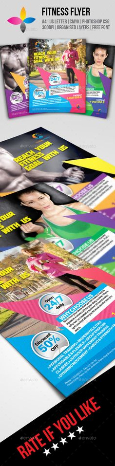 Fitness Flyer Template PSD | Buy and Download: http://graphicriver.net/item/fitness-flyer/8876274?WT.ac=category_thumb&WT.z_author=inddesigner&ref=ksioks