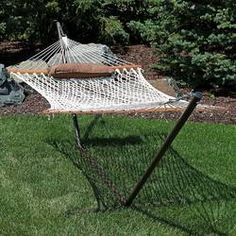 Freeport Park Kyleigh Cotton Hammock with Stand Color: Desert Rope Hammock, Outdoor Hammock, Hammock Swing, Hammock Chair, Swinging Chair, Backyard Hammock, Hanging Hammock, Free Standing Hammock, Furniture