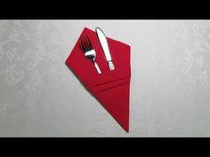 Servietten falten: Tannenbaum - Weihnachtsdeko selber machen - DIY Weihnachten Tischdeko - YouTube
