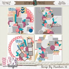 Scrap By Numbers 11  by AK Designs for only USD2.00 only for a verylimited time.  Includes the PNG, PSD, TIFF and page file formats. Available at Scraps N Pieces