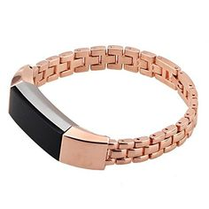 bayite Replacement Accessory Metal Watch Bands for Fitbit Alta Black, Silver, Rose Gold