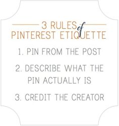 I admit it! I forget to give credit where credit is do. Always remember to acknowledge the source if at all possible and less grabby with each other's pins. I'll be the first to admit it. Thank you all for following and thanks for putting up with my poor Pinterest etiquette. ;)