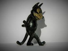 VINTAGE BRITAINS 1920s VERY RARE PAINTED LEAD WALKING FELIX THE CAT FIGURE in Toys & Games, Toy Soldiers, Britains   eBay