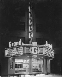 Opened on February the Sherman Grand Theatre was designed by Calgary architect L. With seats. It opened with a productio. Donald O'connor, Alberta Canada, Historical Photos, Theatre Calgary, Theatres, History, City, Circuit, Signage
