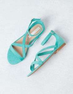 Bershka - simple sea-blue sandals
