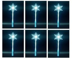 """Amazon.com: Winter Princess Themed Birthday Party Favor Set of 6 Frozen Snowflake Light Up 14"""" LED Wands: Toys & Games"""