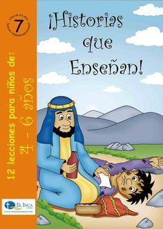 Manuales para la Escuela Dominical, para 4-6 años, de Editorial Buena Tierra, parte de las Librerías El Inca, Perú. #7 Los niños aprenderán una serie de historias que Jesús enseñó.