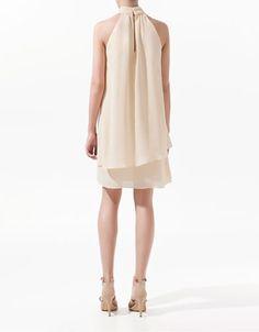 HALTER NECK DRESS - Dresses - Woman - ZARA Costa Rica
