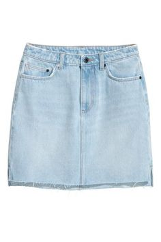 c555fea6c0a Denim Skirt - Light denim blue - | H&M US 1 Skirts With Pockets, Capsule