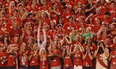 Utah fans cheer as Utah hosts BYU on Saturday, Sept. 15, 2012. (Trent Nelson     The Salt Lake Tribune)