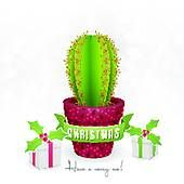 Clipart of Christmas Cactus k2734145 - Search Clip Art, Illustration Murals, Drawings and Vector EPS Graphics Images - k2734145.eps