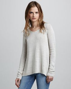 Vince Loose Knit Sweater     Love the outfit, once again, kind of looks like my girl