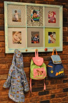 "a picture coat rack made from an old window! So creative and cute! From blogger ""Johnny in a dress"""