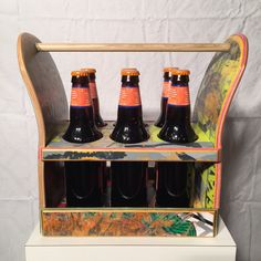 Beer Caddy made from recycled skateboards by on Etsy Skateboard Decor, Skateboard Furniture, Gypsy Home Decor, Diy Home Decor, Room Decor, Cute Wall Decor, Repurposed Items, Diy Wood Projects, Skateboards