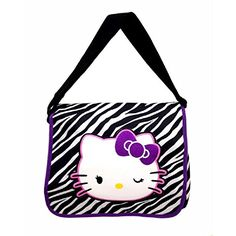 Hello Kitty Zebra Pattern Messenger Bag  TRU -- Read more reviews of the product by visiting the link on the image.Note:It is affiliate link to Amazon.