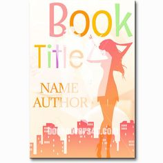 Lady in the city fun romantic book cover Premade Book Covers, Book Title, Thriller, Names, Author, Romantic, City, Books, Fun