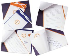 make your own modern layered wedding programs, instructions and templates