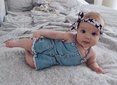 Newborn Kid Baby Girls Denim Romper Bodysuit Jumpsuit Pants Outfits US Stock wea Baby Kind, Cute Baby Girl, Baby Love, Cute Babies, Baby Girls, Girl Toddler, Baby Outfits, Outfits Niños, Newborn Outfits