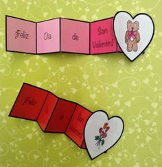Free Valentines Day cards or stickers in Spanish Feliz Dia de