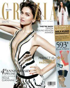 Deepika Padukone on the cover of Grazia (April 2012) | PINKVILLA