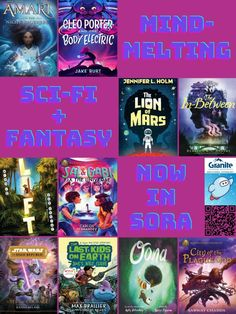 Mind-Melting Sci-Fi and Fantasy in Granite's Sora – Granite Media Library Posters, Student Numbers, Fantasy Fiction, Sora, Book Lists, Granite, Science Fiction, Sci Fi, Mindfulness