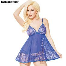 dc5bfff3696 High quality Sexy Sale Full Slip Good Temptation Sexy Lingerie Lace Thong  Strap Transparent Piece Fitted