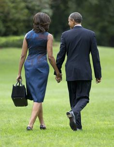 President Obama and First Lady Michelle Obama today.