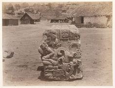 carved block, maya ruins