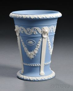 Wedgwood Solid Light Blue Jasper Vase, England, 19th century
