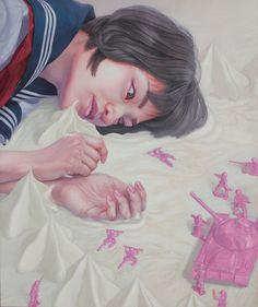 game 2015 acrylic on canvas 194×162cm Kazuhiro Hori www.facebook.com/...