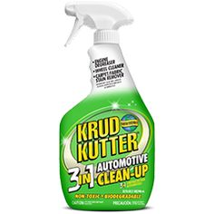 Krud Kutter® 3-IN-1 is a powerful, fast acting automotive cleaner/degreaser and stain remover. No other single product removes really tough krud as quickly & effectively from so many different surfaces. Great for degreasing engines, cleaning tools, tires, bumpers, headlamps, mats, fabric, vinyl seats, carpet, chrome, concrete floors, and fiberglass.