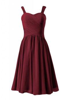 DaisyFormals Sweetheart Short Bridesmaid Formal Party Dress (BM800)- Dark Scarlet
