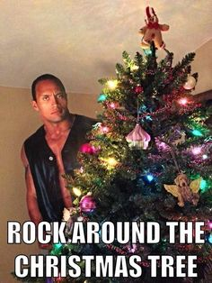 For Kirsten. Someone Used A Cardboard Cutout Of The Rock To Make Some Really Hilarious And Totally Stupid Puns