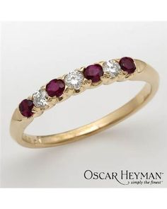 Product Name OSCAR HEYMAN Ladies Diamond Ring Designed In 18K Yellow Gold at Modnique.com