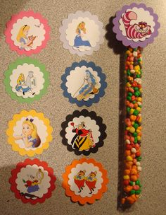 Alice in Wonderland Candy Tubes by threeofakindmunchkin on Etsy, $5.60