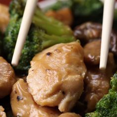 Chicken, Mushroom, And Broccoli Stir Fry Cooking Videos Tasty, Cooking Oatmeal, Chicken, Meat, Food, Eten, Hoods, Meals