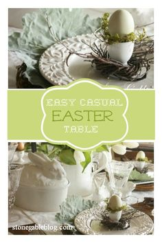 Easy casual formula table for Easter http://www.stonegableblog.com/2013/03/an-easy-easter-table-using-formula.html#comment-form