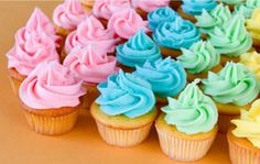 Make one simple frosting base that creates a variety of frosting colors and flavors, perfect for cupcakes, cakes and more. Raspberry, lemon, orange or grape are a few of the frosting flavors to try.