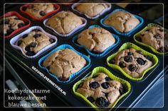 Recept voor koolhydraatarme kokoscake met blauwe bessen. Sponzige cake. Heerlijk! Granenvrij en suikervrij.