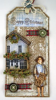 Artistic Outpost - southern charm, southern christmas tag.