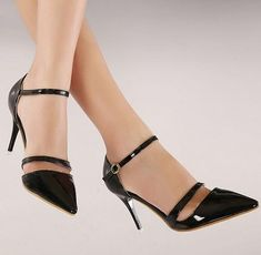 Elegant Hollow Out Cusp Toe High-heeled Shoes