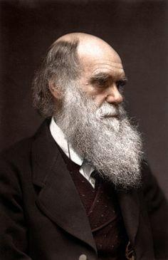 Charles Darwin, photo colorisée