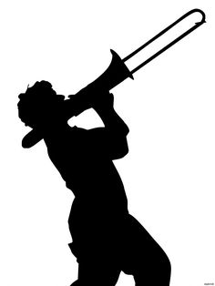 Trombone-Player-Black-Silhouette-Art-printing-wall-poster-wbp04168.jpg (1000×1333)