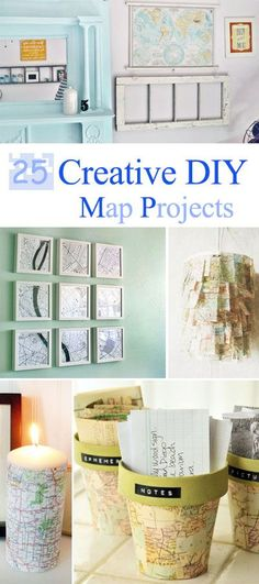 25 Creative DIY Map Projects • Great Tutorials and Ideas!