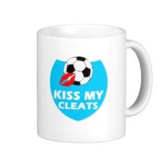Kiss My Cleats Mug by TalkieAboutCoffee on Etsy
