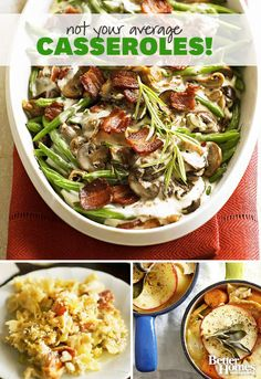 These casseroles are far from average! Try one of our favorite casserole recipes:  http://www.bhg.com/recipes/casseroles/company-worthy-casseroles/?socsrc=bhgpin102413potluckcasseroles